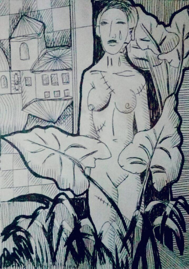"""""""Mujer"""", de Marta Beatriz Clavijo, Artista Plástica, Docente y Dibujante"""